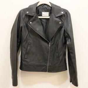 Universal Thread Black Vegan Leather Moto Jacket
